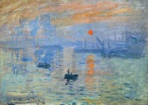 Claude Monet, Impression, soleil levant (Impressão, Nascer do Sol), 1872, óleo sobre tela, Musée Marmottan Monet, Paris